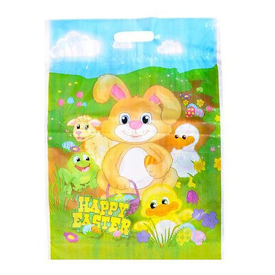 """48 ~ Easter Goody Bags / Loot Bags ~ Plastic ~ Approx. 9"""" x 5"""" ~ New ~ Egg hunt!"""