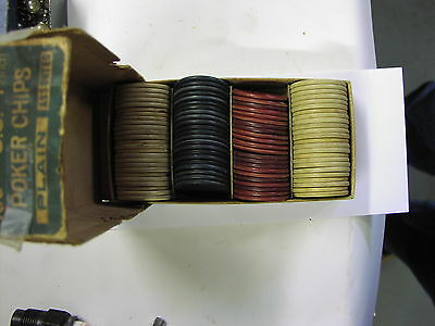 "Antique Poker Chips Plain 1.5"" What you see is what you get"