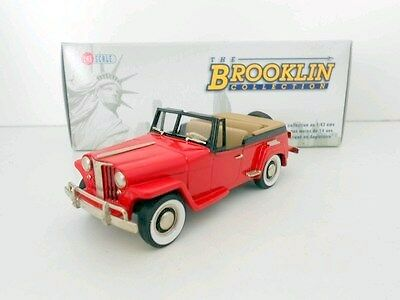 BROOKLIN 1/43 BRK161 1948 WILLYS OVERLAND JEEPSTER ROADSTER RED / BLACK