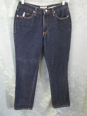 VTG 80's Guess Jeans Size 12 Dark Blue Denim 100% Cotton High Waisted