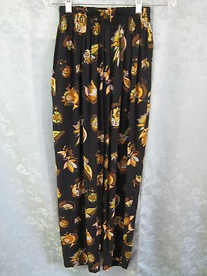 VTG 80's  Elastic Waist Pants Size Small Slacks Abstract Print Artsy Baggies
