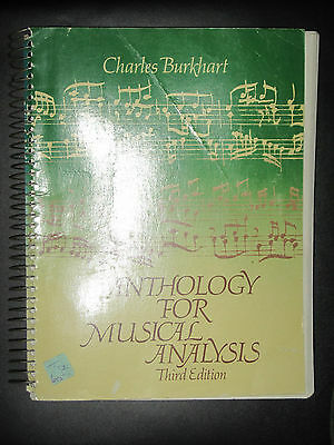 Anthology for Musical Analysis by Charles Burkhart (1979, Paperback)