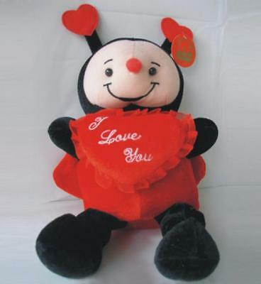 "LADYBUG Plush Doll with Heart /"" I LOVE YOU /"" 10/"" inches BRAND NEW"
