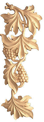 """11"""" 16"""" 20"""" Pair of Hand-Carved Grape Leaf Scrolls in Oak Maple or Cherry IWW91"""