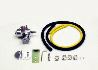 100% Brand New Adjustable Fuel Pressure Regulator with Accessories hoses Silver
