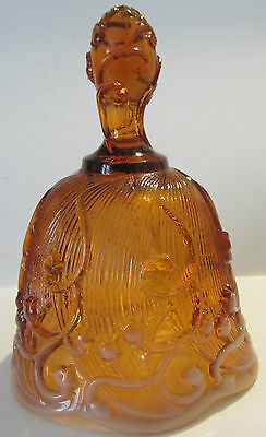 Fenton Amber Lily Of The Valley Glass Bell