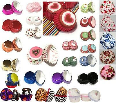 Mini Cupcake Cases  Different Prints 100pcs  Paper/Greaseproof