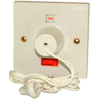 shower ceiling pull cord switch back box 45 amp double. Black Bedroom Furniture Sets. Home Design Ideas