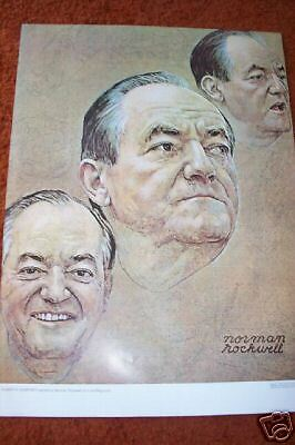 HUBERT Humphrey   1968  Made for Look Rockwell  Poster
