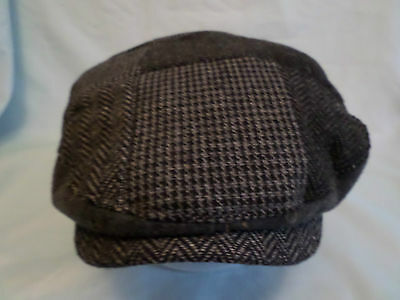 Gents Traditional Working Mans Patch Work  Wool Flat Cap Golf Hiking All Sizes