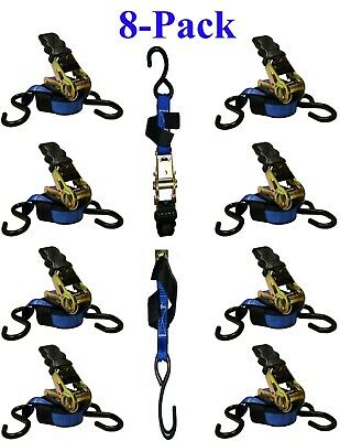 On Sale!! 1 in. x 12 ft. Blue Ratchet Tie Down Motorcycle Strap 1200 lbs  6-Pack