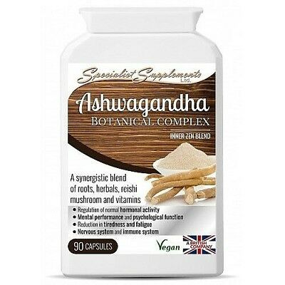 Ashwagandha Botanical Complex x 90 Capsules, Stress, Anxiety Relief Fatigue Mood