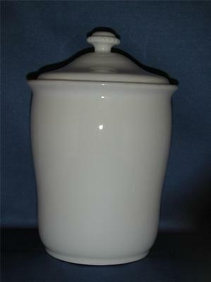**?Steven Sclaroff Water Works White French Porcelain Lidded Large Container,NWT