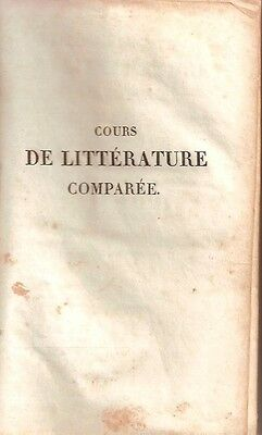 Cours De Litterature Comparee Tome 2 / Noel-De La Place / Le Normant