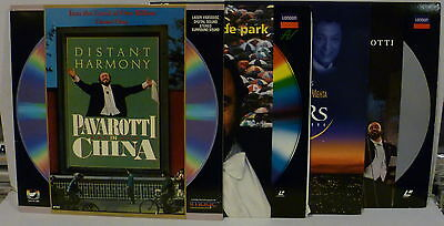 Lot of 4 PAVAROTTI LASER DISCS: IN CHINA, HYDE PARK, 3 TENORS 1994, IN CONCERT