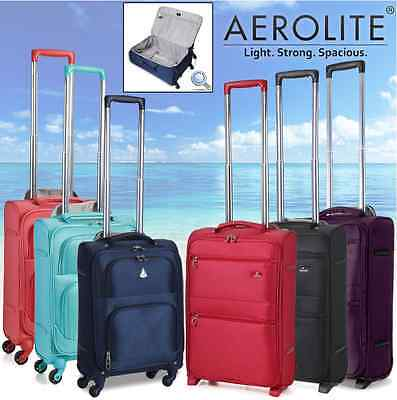 Aerolite Lightweight Travel Trolley Hold & Hand Cabin Luggage Bags Suitcase