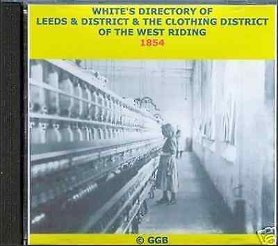Genealogy Directory Of Leeds & District 1854 Cd Rom