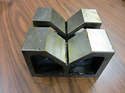 "8"" Steel V-Block Matched Pairs--Accurately ground--new"