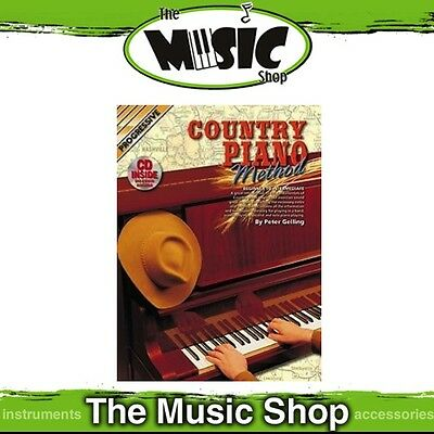 New Progressive Country Piano Method Music Book with CD by Peter Gelling