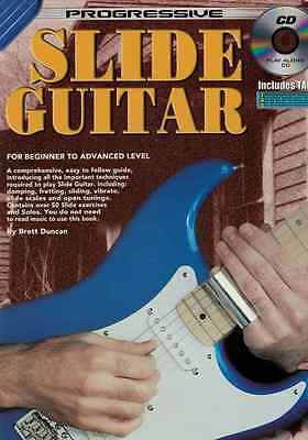 Progressive Slide Guitar Music Lesson Book with CD - New The Music Shop
