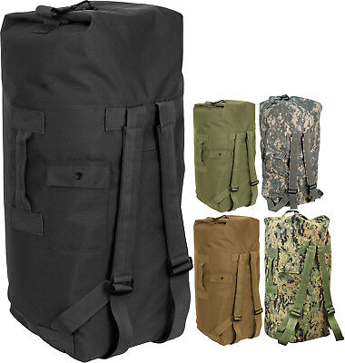 da5feede807b Double Strap Military Carry Duffle Bag Backpack Heavyweight Nylon - 24
