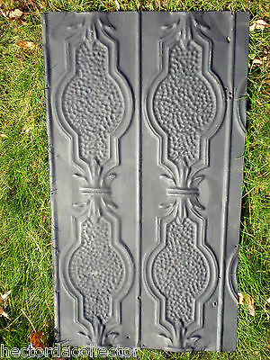 Antique Victorian Ceiling Tin Tile Pie Cupboard Cabinet Doors Gothic Shabby Chic