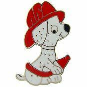 UNITED STATES FIREFIGHTER DOG FIRE HOSE PIN BADGE