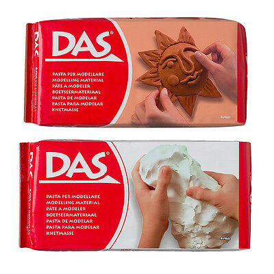 DAS Air Drying Modelling Clay for Art & Craft in White or Terracotta - 1kg