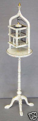 B-9 4295 1/12 SCALE MINIATURE  HAND PAINTED BIRD CAGE