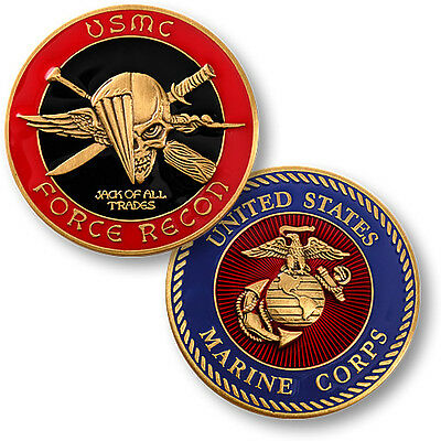 US Marine Force Recon Challenge Coin USMC Corps Reconnaissance Special Operation