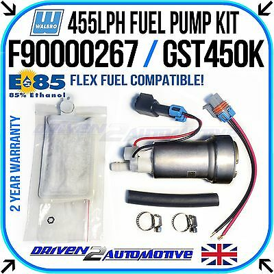 Walbro Gst450 455 Lph Fuel Pump E85 Compatible + Walbro Kit Including Harness