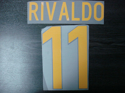 RETRO! RIVALDO #11 Barcelona Home UCL 1998-99 Name Numbering