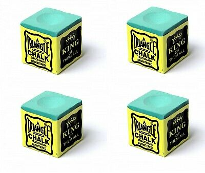 Green x 4 Triangle USA Pool - Snooker - Billiard Tables Cues Tips Chalks