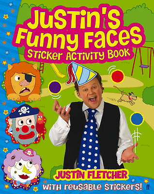 ~~ Justin's Funny Faces ~~ Sticker Activity Book  ~~  Brand New ~~