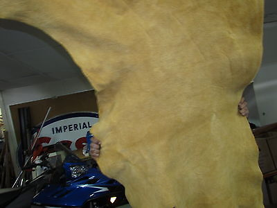 "Home Tanned Moose Hide 63""x 42"" Native , Excellect Sweing Material, Medium Soft"