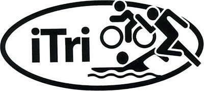 iTri Vinyl Decal CHOOSE SIZE/COLOR Window triathlon
