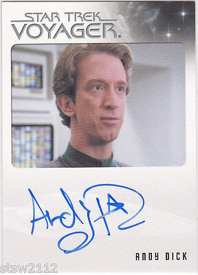 Star Trek Voyager Quotable Andy Dick Emh Mark Ii Autograph