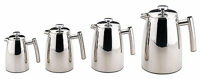 Grunwerg Double Wall Coffee Maker Stainless Steel Plunger Cafetiere 3 6 8 12 Cup