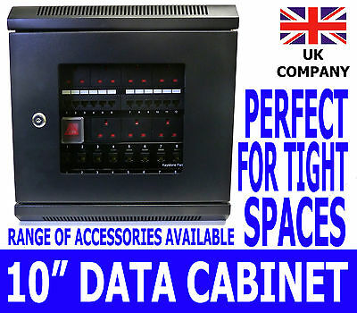 "10"" 6U Black Wall Cabinet Network Data Rack SOHO Home Office Lan Server Switch"