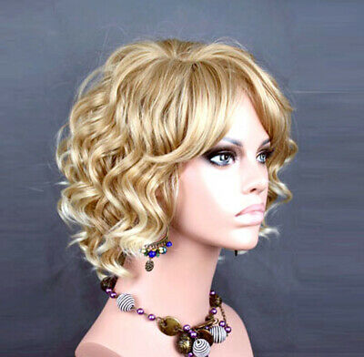 Wiwigs Lovely Blonde Mix Short Curly Summer Style Skin Top Ladies Wig