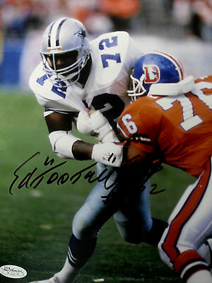 "ED 'Too Tall"" JONES SIGNED 8x10"" photo JSA SOA HOLOGRAM DALLAS COWBOYS"