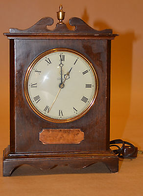 VTG WARREN TELECHRON CLOCK ELECTRIC 40s WOOD MANTLE FREE PRIORITY SHIPPING USA