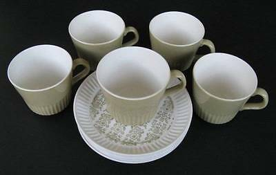 Vintage Retro Crown Lynn Kismet Cup and Saucer Duo - New Zealand - Set of Five