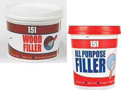 New 151 Wood Filler And All Purpose Filler Ready Mixed Tub New Formula Quality.