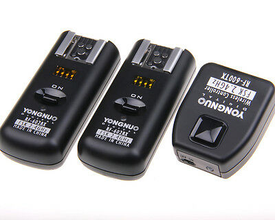 YONGNUO RF-602 2.4GHz Wireless Remote Flash Trigger + 2 * Receiver for Canon