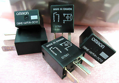 (NEW) Omron G8HE-1A7T-R1-DC12 High Current Micro ISO Plug In Automotive Relay