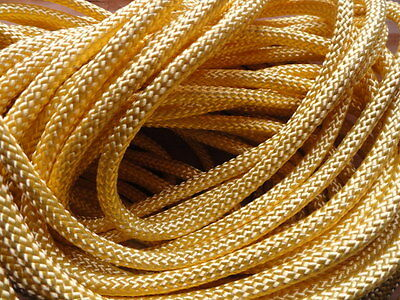 """Bolo Cord 36"""" LIGHT YELLOW rayon (pkg 12) 0809 Plasticized Tips 4mm thickness"""
