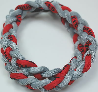 """Wholesale Lot of 12 Titanium Tornado Sport Necklace 20"""" Gray Red Grey Braided"""
