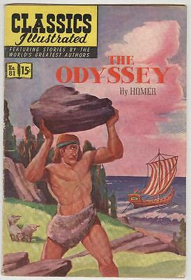 Classics Illustrated #81 March 1951 VG The Odyssey 1st print