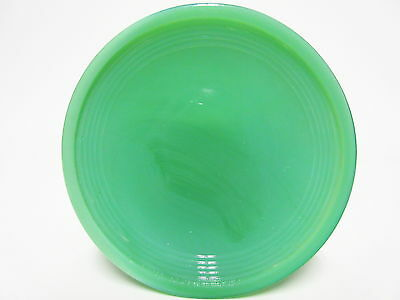 Akro Agate Child's Small Stacked Disc Opaque Green Saucer /  VHTF/ 12 Available